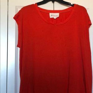 Orange blouse silk bottom